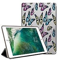 PRINDIY iPad Pro 11 2018/iPad Pro 保護カバー,PC + PU 耐摩耗性 傷防止 耐衝撃 三つ折りブラケット 三段角度調節 クリア バックカバー iPad Pro 11 2018/iPad Pro Case-G 157