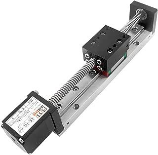 FUYU FSL30 Mini Linear Stage Actuator Small Slide Guide Rail CNC Screw Lead Motion Table Motorized Nema 11 Stepper Motor[100mm Stroke]