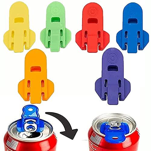 Color Coded Drink Shield and Soda Protector, Tapones para latas, 6 Piezas Tapa de Lata Antipolvo Reutilizable, para refrescos, tapas de refrescos, cerveza, bebidas energéticas (6pcs)