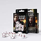Q-Workshop QWOCLR26 Classic Runic White/Red Dice Set (7)
