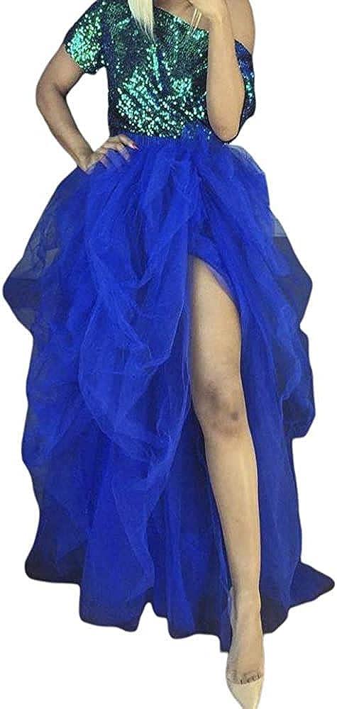 Women High Waist Tulle Tutu Long Skirt Floor Length Layered Skirt Wedding Night Out Party A-Line Puffy Maxi Skirt