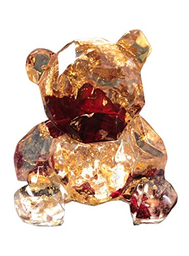 dunns-jewels Rose and Gold 3' Bear Ornament
