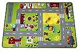 HuggyPlay - Alfombra de juegos (150 x 90 cm), diseño de ciudad