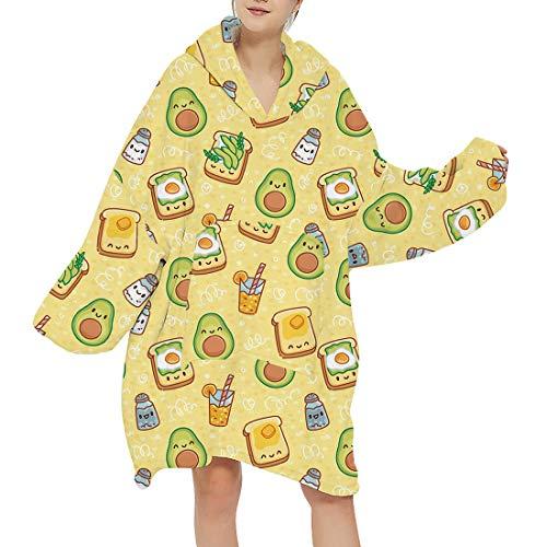 Manooby Manta Sudadera con Capucha de Gran Tamaño para Mujer Abrigo Largo Pullover Mono Pijama de Una Pieza(#06,F)