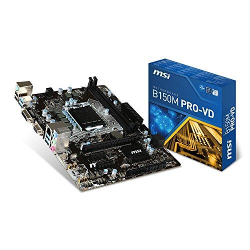 MSI Mainboard B150M PRO-VD Socket LGA1151 Max. 32GB Dual 2X DDR4 2133 mATX