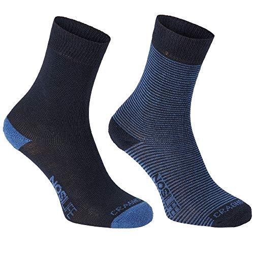 Craghoppers - chaussettes de Marche Nosilife - Homme (Lot de 2) (43-47 EU) (Bleu Marine/rayure)