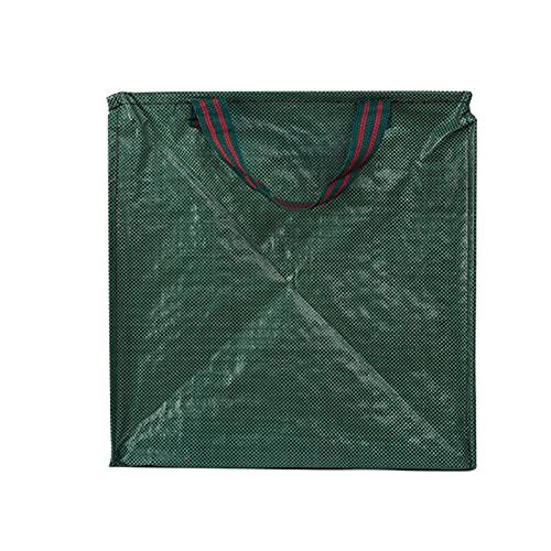 POHOVE 2 bolsas de basura para jardinería, jardín, patio, bolsas reutilizables, para hojas de césped, resistente, contenedor con asas para recoger hojas