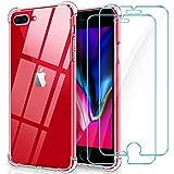 WINmall Coque pour iPhone 7 Plus, Coque pour iPhone 8 Plus, 2 Pack Verre trempé...