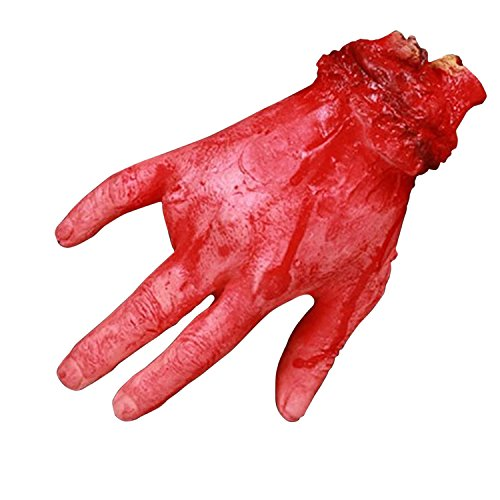 Petalum Halloween Horror Deko Blutige Körperteile Abgetrennt Realistisch Hand Finger Füße Abgehackt Erwachsene Kopf Lebensgroß