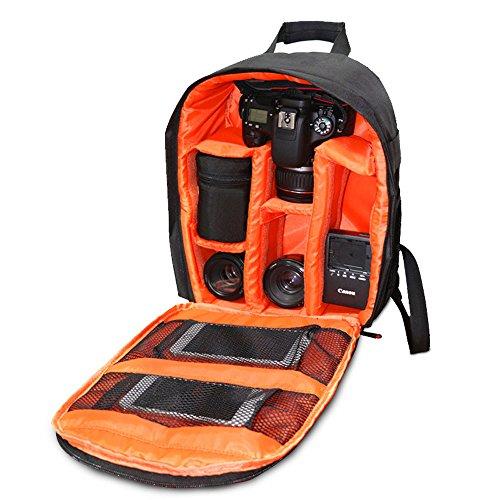 Vovotrade® sacchetto della macchina fotografica DSLR cassa impermeabile per Canon Nikon Sony (Arancione)