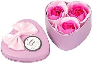 せっけんの花 ソープフラワー 母の日 敬老の日 結婚祝い バレンタインデー プレゼント 贈り物 誕生日 プレゼント バレンタイン ホワイトデー ギフト 結婚記念日 お祝い など 大切な人に 感謝の気持ちを伝える (ピンク, 3本)