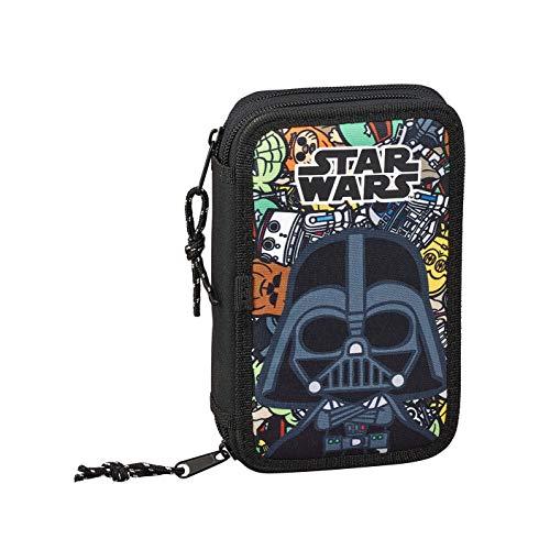 Star Wars Galaxy Oficial Estuche Escolar Incluye 28 Útiles, 125x40x195mm