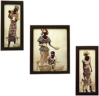 Indianara 3 Piece Set of Framed Wall Hanging Art