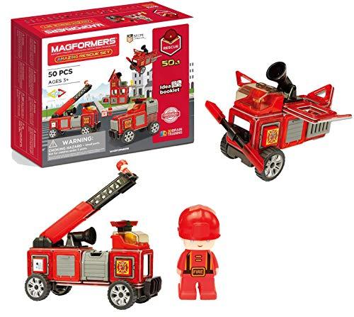 Magformers 717003 Feuerwehr-Figuren Rescue Set, Mehrfarbig