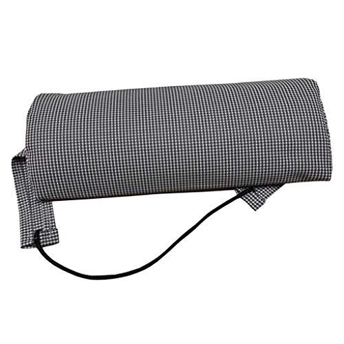 Ersatz Auflagen Kopfkissen Zubehör für Klappbar Liegestuhl Gartenliege Relaxliege Sonnenliege - Kopfkissen- Grau