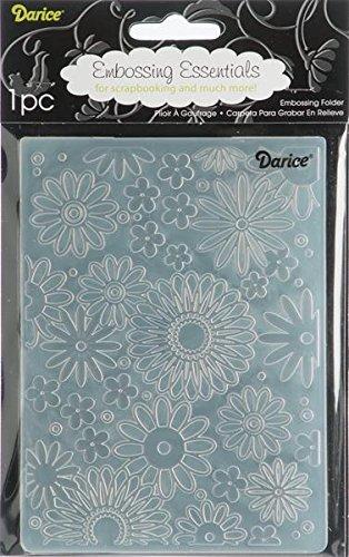 Darice Carpetas de estampación, Plantilla Estampado de Flores, Plastic, 8.5x5.3x0.11 Inches