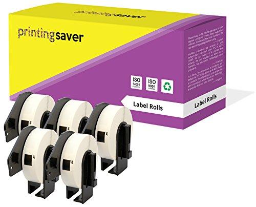 5 Rollen DK11204 DK-11204 17mm x 54mm Mehrzweck-Etiketten kompatibel für Brother P-Touch QL-500 QL-570 QL-700 QL-800 QL-810W QL-820NWB QL-1050 QL-1060N QL-1100 QL-1110NWB (400 Etiketten pro Rolle)