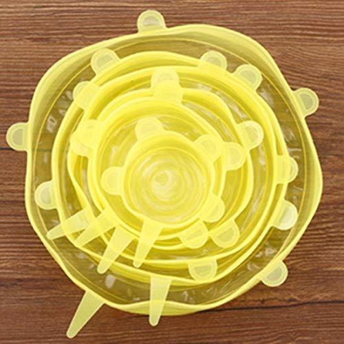 Paula Tomlinson450003 Nice 6 Stück Silikon Wraps Seal Bowl Covers Food Save Storage Stretch Deckel Kühlschrank Zubehör YW