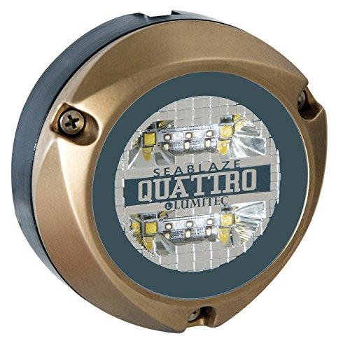 Lumitec Lighting 101460, LED Underwater Light, Surface Mount, Zambezi Quattro, Spectrum Full-Color, RGB