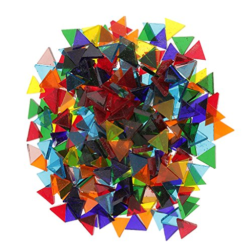 Sharplace 160g Couleur Mixte Carreaux De Mosaïque en Verre Coloré Maison Jardin Bricolage - Triangle