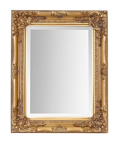 Select Mirrors Rhone - Espejo pequeño de pared de estilo barroco antiguo - Diseño vintage francés - Decoración elegante para el hogar - Oro antiguo - 42 cm x 53 cm