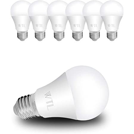 Wtl A19 Led Light Bulbs 6 Pack Ul Listed 60w Equivalent 9w 2700k Warm White 800lm Non Dimmable E26 Medium Base For Home Commercial Lighting