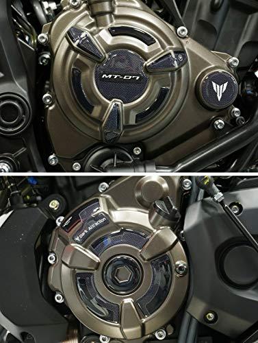 Kit adesivi in gel 3D protezioni laterali carter moto compatibili Yamaha MT-07