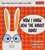 Now I know how the rabbit runs! Postkartenkalender 2020. Wochenkalendarium. Blockkalender. Format 16 x 17,5 cm - Harenberg