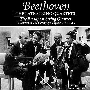 Beethoven: Late String Quartets (Live)