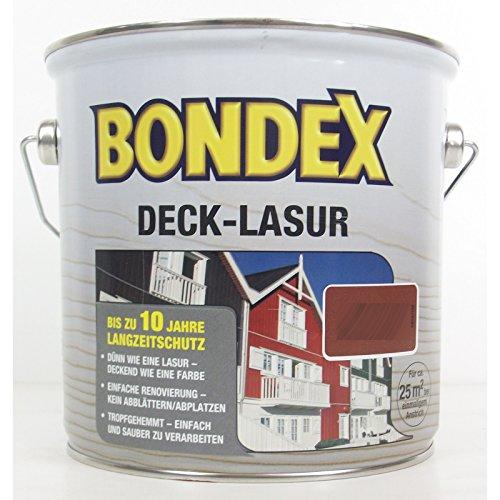 Bondex Deck-Lasur, Bornholmrot, 2,5 l, deckende Holzlasur für Holz in Aussenbereich