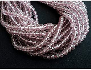 Jewel Beads Natural Beautiful jewellery Pink Coated Quartz, Micro Faceted Rondelle Beads, 4mm Beads, 14 Inch StrandCode:- JBB-24353