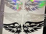 FINGERINSPIRE Pegatinas de Vinilo con alas de Dedos de Inspiración (Juego de 12) Pegatinas de Vinilo Hueco Tallado a Prueba de Agua (3 Colores) para el Casco de la computadora Auto, 24.8x7.2cm