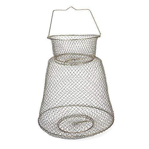 Zite Fishing Cage de Pêche Pliable Portable - En acier...