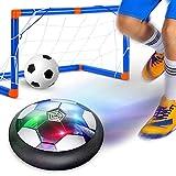 GEYUEYA Home Air Power – Juego de fútbol con USB Hover Power Ball Indoor Football juguete flotante con iluminación LED multicolor para niños interior y exterior juguete regalo