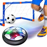 GEYUEYA Home Air Power Football, Hover Football Ballon de Foot Enfants Hover Soccer Ball avec coloré Lumière LED, USB Rechargeable Ballons Football de Jouet pour Indoor & Outdoor Formation Football