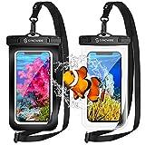 Syncwire wasserdichte Handyhülle Unterwasser Wasserfeste - 2 Stück(7 Zoll) 2021 Wasserdicht Handy Hülle Handytasche für iPhone 12 Pro Max 11 XS Max XR X 8 7 6+ Samsung S10 S9+ Huawei P30 Pro etc