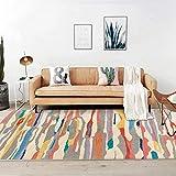 Moderne Tapis Salon Descente de lit Chambre Grande Taille Tapis Nordic Contrast Color Colorful Abstract Watercolor 140 x 200 cm(4'6''x6'6'')