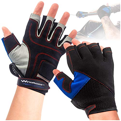 WindRider 3/4 Finger Performance Sailing Gloves - Kayak Canoe Paddling