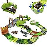 Dinosauri Giocattoli Pista da Corsa Flessibile Regalo Educativo per Bambini Ragazzi Ragazze 3 4 5 Anni