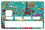 Deco-idees Sticker pour Carte bancaire, Paris Sera Toujours Paris - Différenciez et...