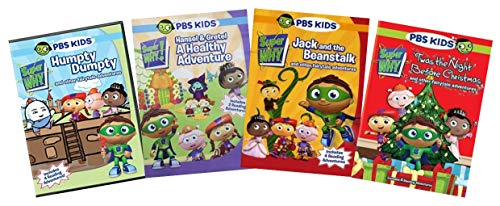 PBS Super Why 4-Volume Education & Learning DVD Collection: Humpty Dumpty / Hansel & Gretel / Jack & the Beanstalk / 'Twas the Night Before Christmas
