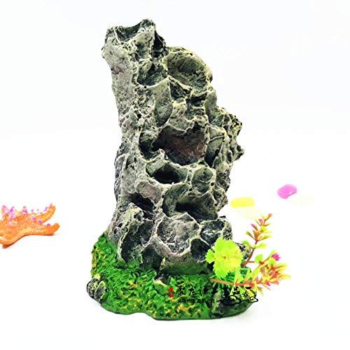 YAOHEHUA Guaridas Piedras hábitats Reptiles y Anfibios Adornos rocosos Piedras Falsas de Resina Artificial paisajismo de Peces bajo el Agua Rocas Creativas y exóticas