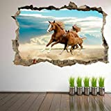 Horse mare and foal 3D Art Wall Stickers Mural Stickers Children's Room Home Decoration GR7
