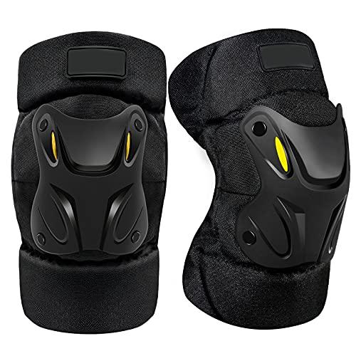 woyada Rodilleras de 2 piezas de equipo de protección, para patines de ciclismo, BMX, monopatín, patinaje en línea, patinaje, motocicleta, scooter, equitación y deportes