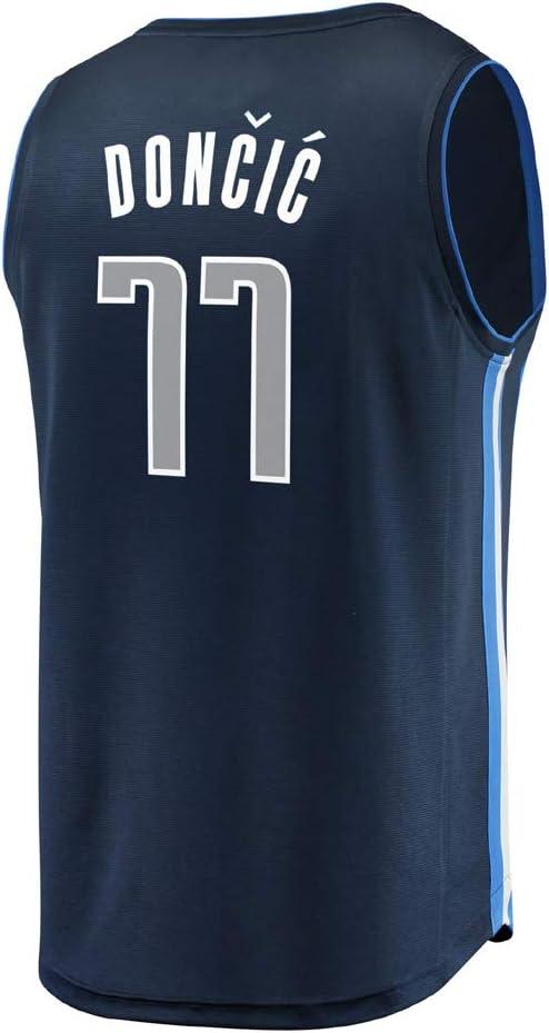TJeSPORT Hombre Doncic Bordado Jersey Mavericks de Camiseta para de Adulto 77
