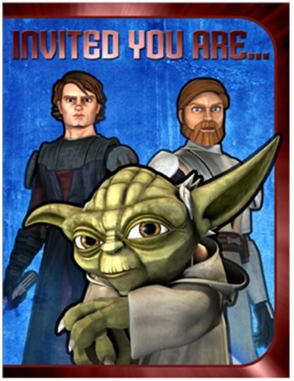Star Wars  The Clone Wars Invitations 8ct