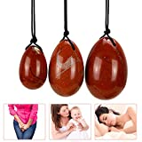 YONGEOG 3 stücke Natürliche Gebohrt Roter Jaspis Yoni Ei Massage Stein Jade Eier für Frauen Kegel...