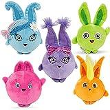 OAVNUS Sunny Bunnies Plush Toys 5 PCS   Plush Toy Soft Stuffed Toys Doll Animal Cartoon Gift for Children (Sunny Bunnies)