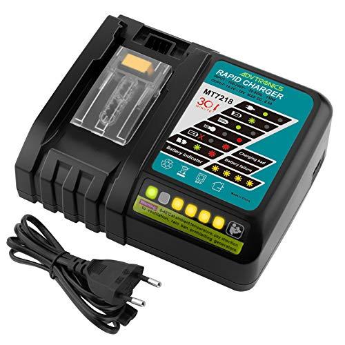 ADVTRONICS 6.5A Cargador rápido de batería de DC18RC MT7218 de con LED Batería para Makita 14.4V 18V Batería BL1440 BL1445 BL1460 BL1815 BL1830 BL1840 Bl1850 DC18RA DC18RF DC14SA DC18SC
