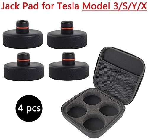 无 4Pcs Jack Lift Pad for Tesla Model 3 Model Y,Rubber Jack Point Pad Adapter for Protecting Battery Paint & Chassis,EVA Storage Bag for Tesla Model Y